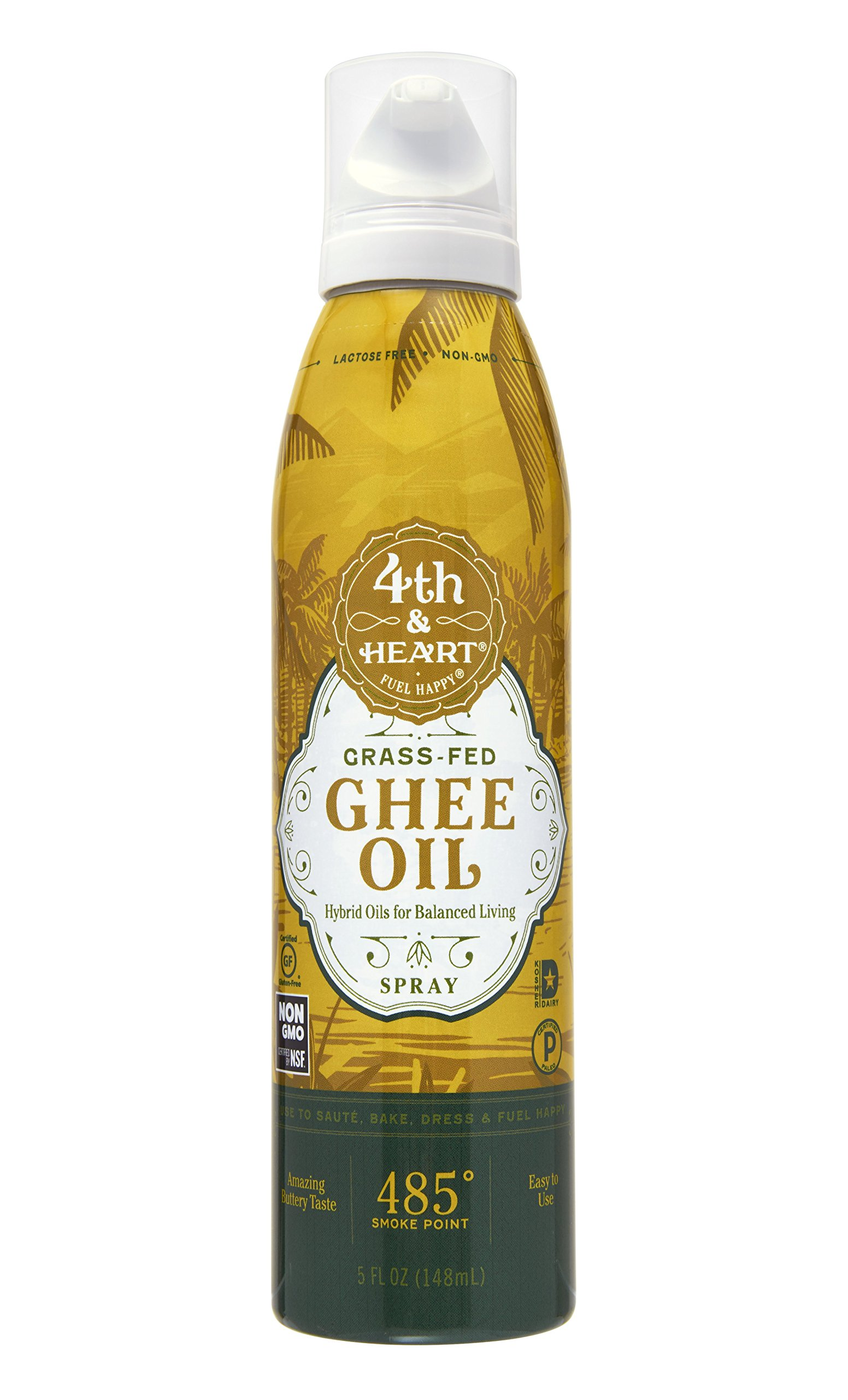4th & Heart OIL GHEE SPRAY 5OZ