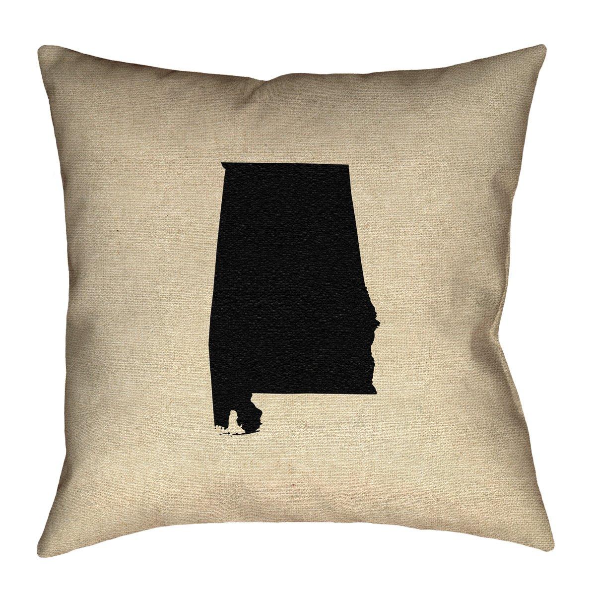 ArtVerse SMI148P2020D Alabama Pillow 20 x 20