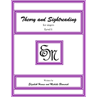 Theory and Sightreading for Singers: Level 1 book cover