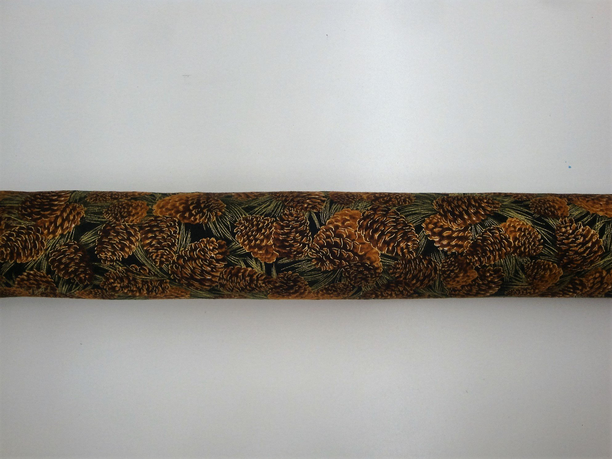 Door Draft, Light, Dust Stopper Natural Fragrant Balsam, Many Colors & Sizes - Quality USA Made (3'' x 32'', Golden Pine Cones)
