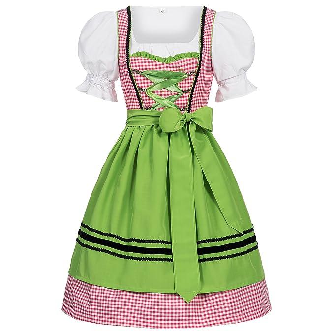 8429885ced6 Women's German Dirndl Dress Costumes for Bavarian Oktoberfest Carnival  Halloween