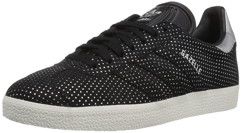 adidas Originals Gazelle W Sneaker B06XPLK66L 8 B(M) US|Black/Black/Silver Metallic