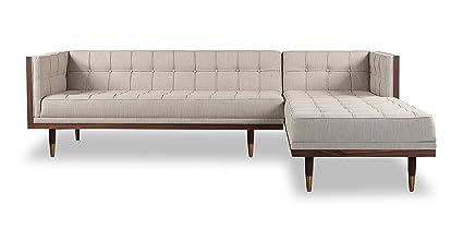 Fine Amazon Com Kardiel Woodrow Midcentury Modern Box Sofa Cjindustries Chair Design For Home Cjindustriesco
