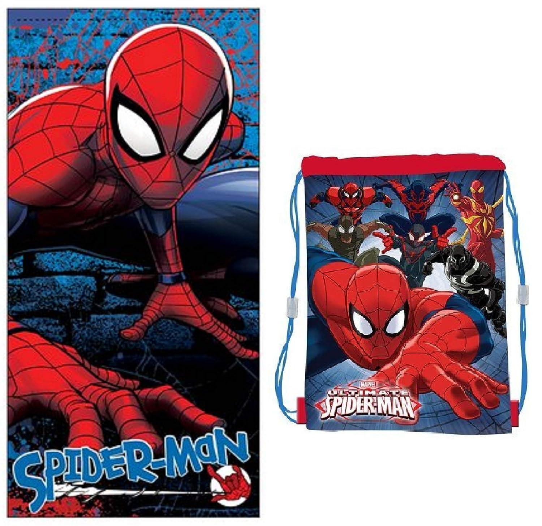 Spiderman Toalla - Bolsa de Playa Spiderman Marvel: Amazon.es: Hogar