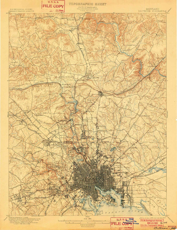 Amazon Com Yellowmaps Baltimore Md Topo Map 1 62500 Scale 15 X