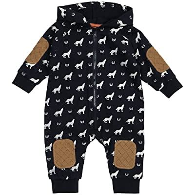 Petit Lem Baby Boy Hooded Romper Outfit, Breathable Materials and Strong Detailed Stitching To Last Through Multiple Washes.