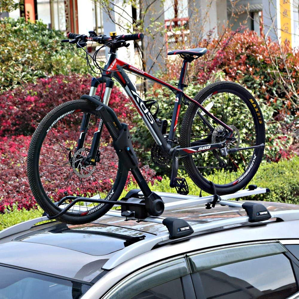 PHAT ® Sidearm Rooftop Upright Bike Carrier, Universal Car Roof Carrier Rack Bicycle Mount with Lock, Black