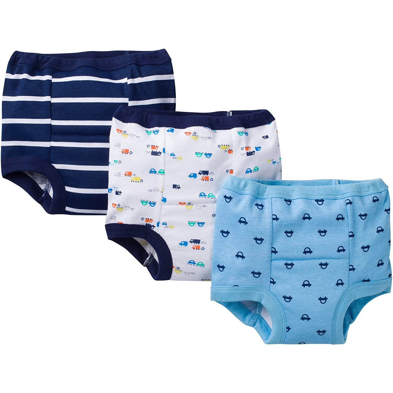 Gerber Baby Toddler Boy Training Pants, 3-Pack (2T, Cars)