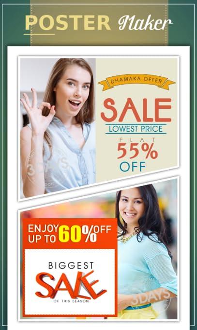 amazon com poster maker flyer designer ads page designer hd