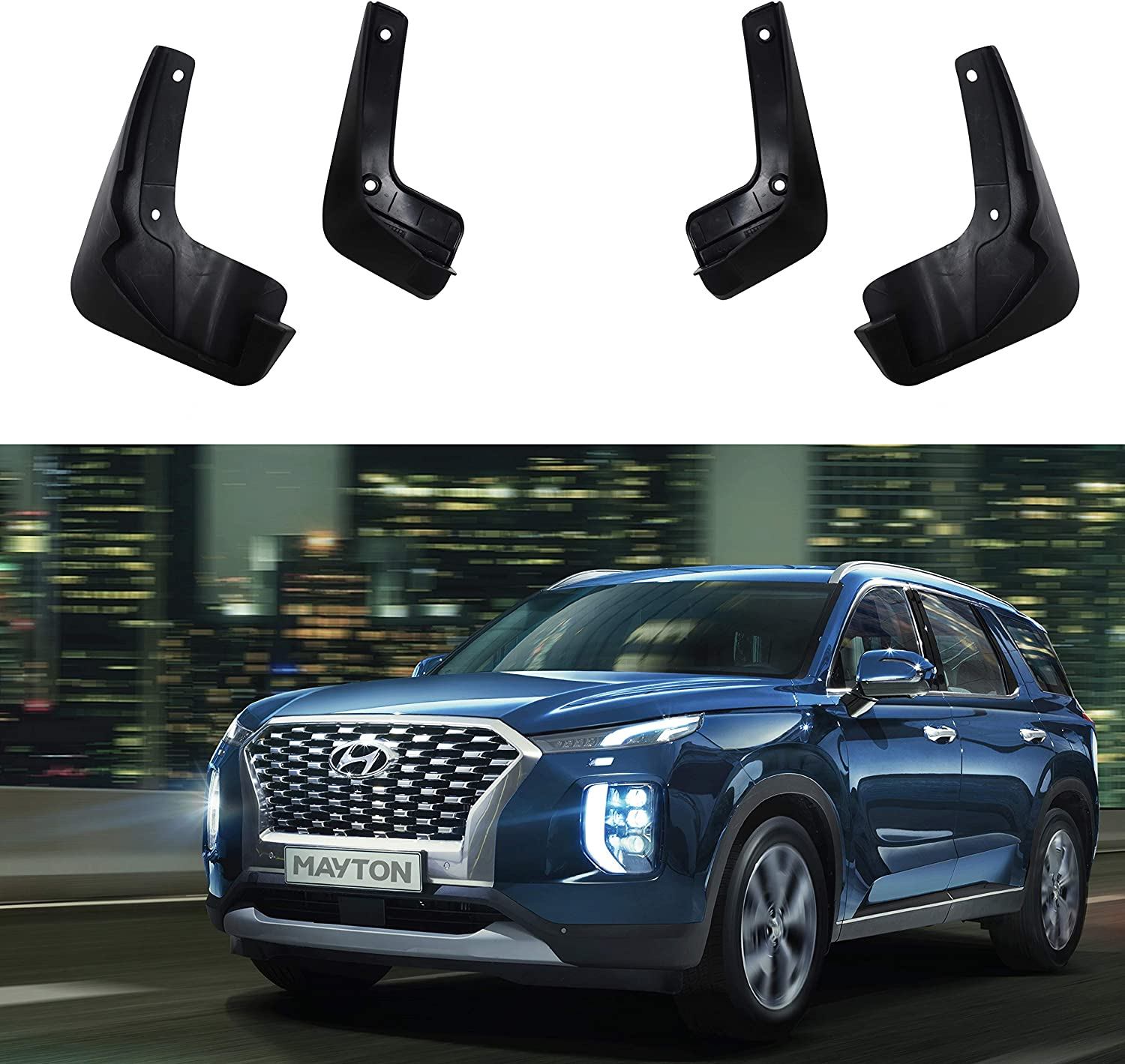 MAYTON Mudguard Mud Flaps Splash Guards Protectors 4PCS Set for Hyundai Palisade 2019-2020