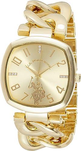 Amazon.com: U.S. Polo Assn. Women's Analog-Quartz Watch with Alloy Strap, Gold, 11 (Model: USC40250AZ): Watches