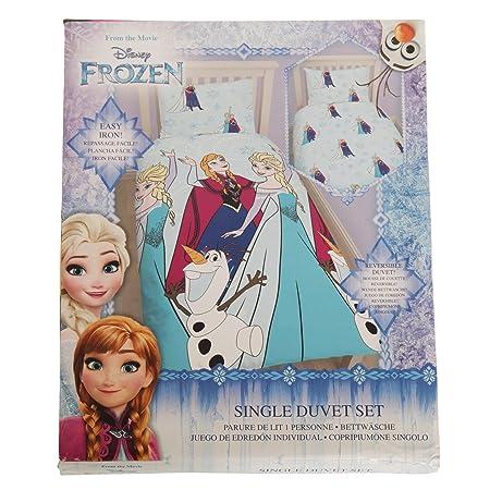 Disney Frozen Lights Single Duvet Set Repeat Print Design