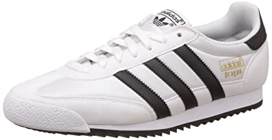 adidas Dragon Vintage, Baskets Basses Homme, Blanc (Footwear White/Core  Black/Gold Metallic), 38 EU Amazon.fr Chaussures et Sacs
