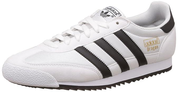 Adidas Dragon OG, Zapatillas de Deporte para Niños, Blanco (Ftwbla/Negbas/Dormet 000), 38 EU