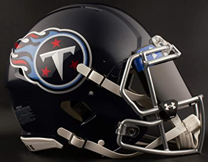 7f3e02d2e Image Unavailable. Image not available for. Color  Riddell Tennessee Titans NFL  Football Helmet with Dark-Tint Black Visor Eye Shield