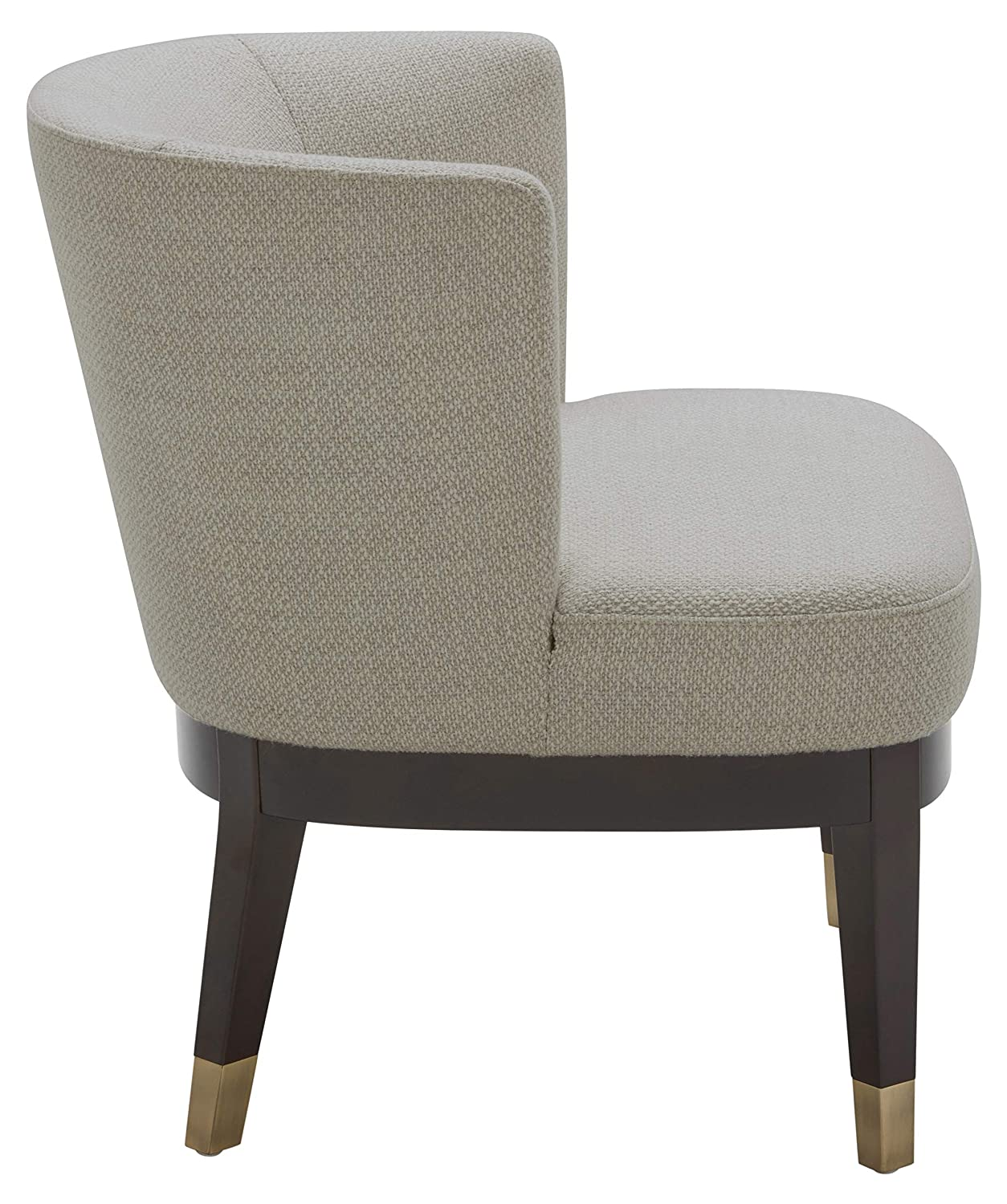 Super Rivet Stacey Mid Century Modern Round Backed Armless Living Room Chair 27W Stucco Creativecarmelina Interior Chair Design Creativecarmelinacom