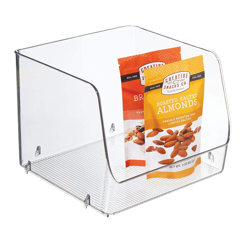 InterDesign Linus cajoneras de plástico XL | Organizador armarios para alimentos o utensilios de cocina | Apilables y con apertura lateral | ...