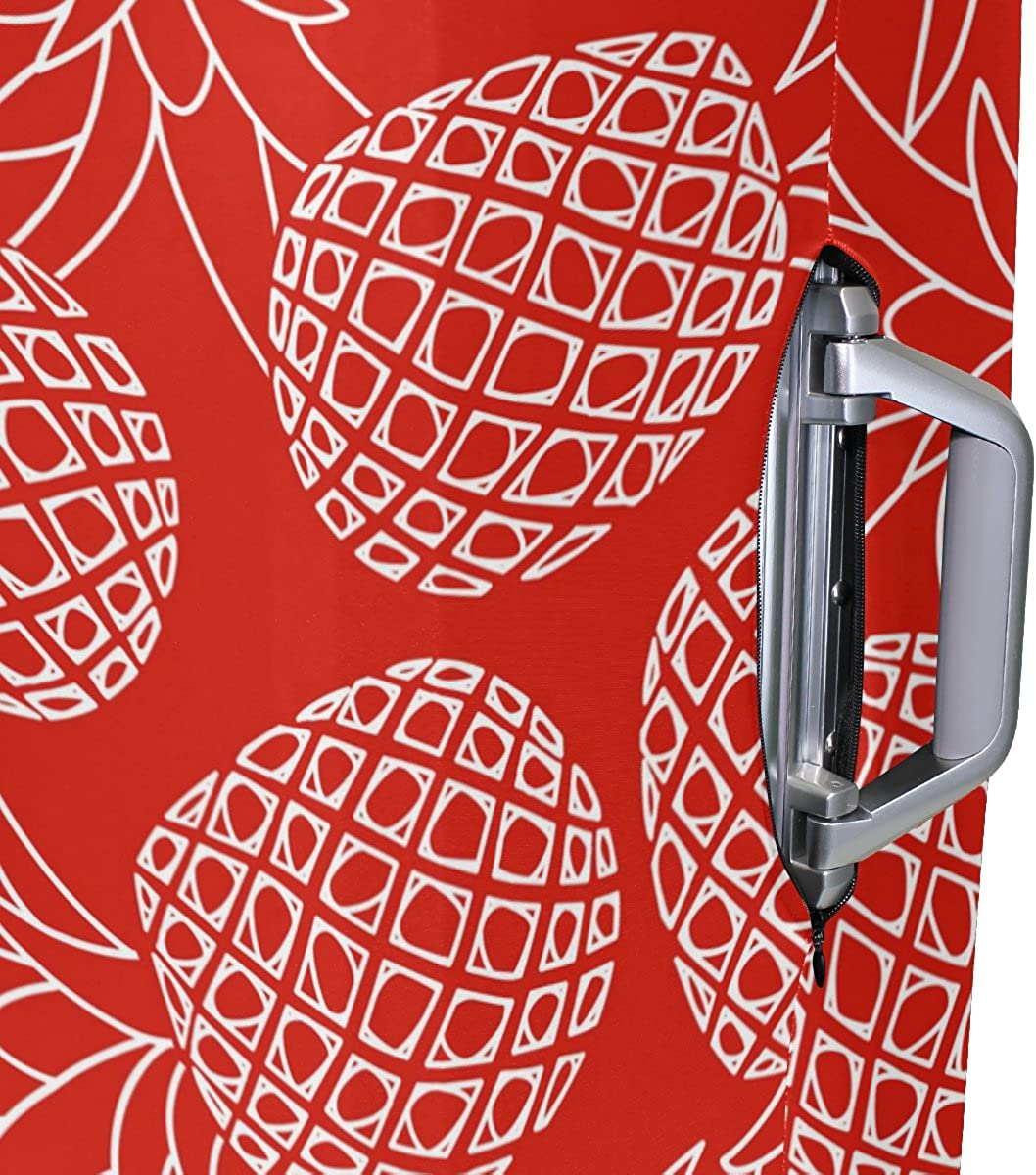 Elastic Travel Luggage Cover Cute Pineapples Suitcase Protector for 18-20 Inch Luggage