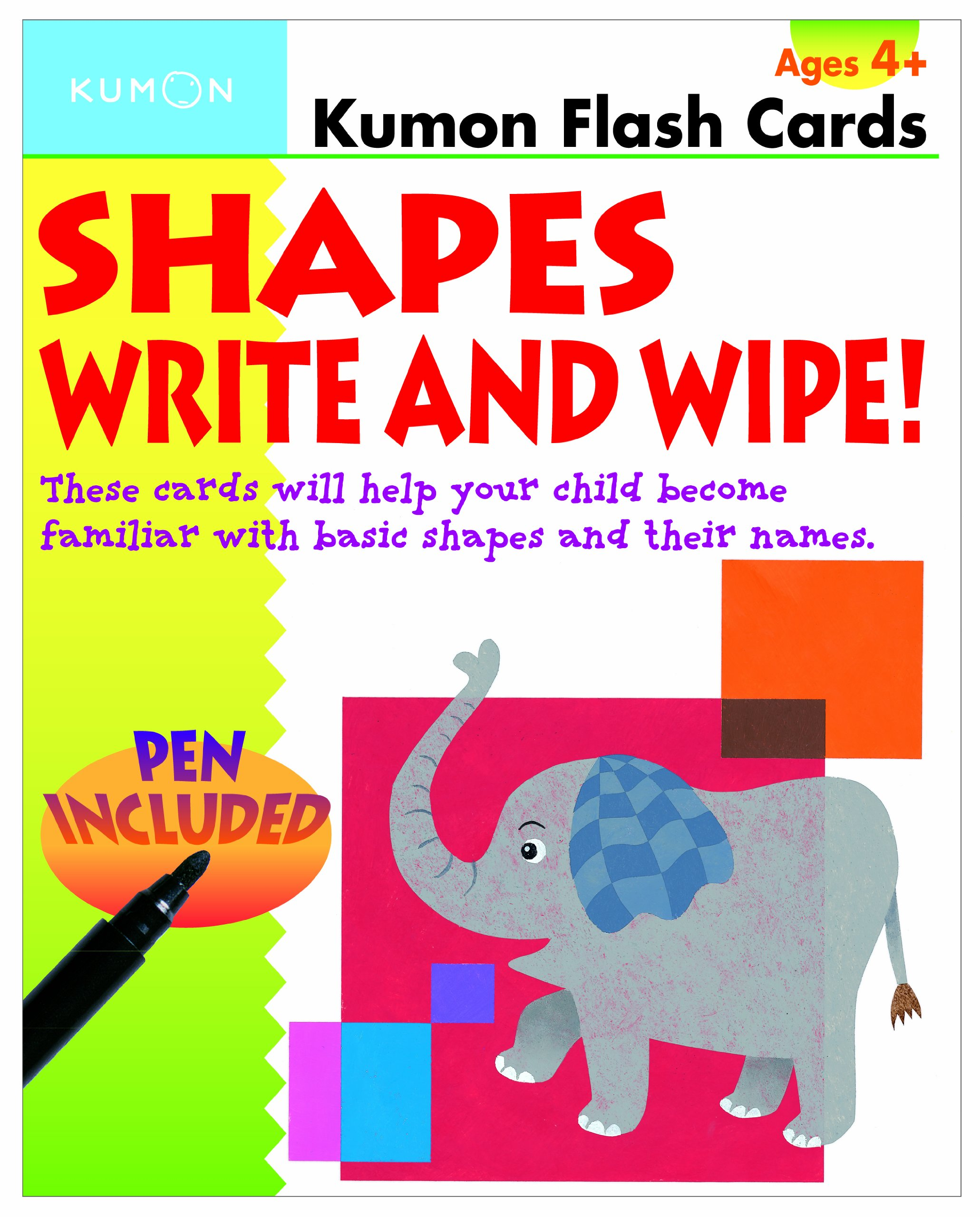 Shapes Write and Wipe! (Kumon Flash Cards) pdf