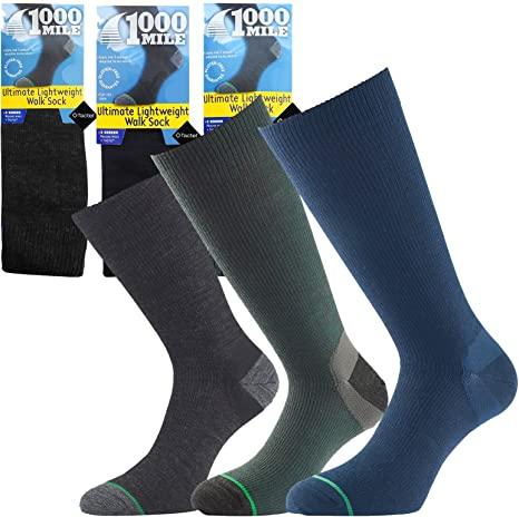 1000 Mile Fusion Blister Free Double Layer Mens Walking Hiking Supportive Socks