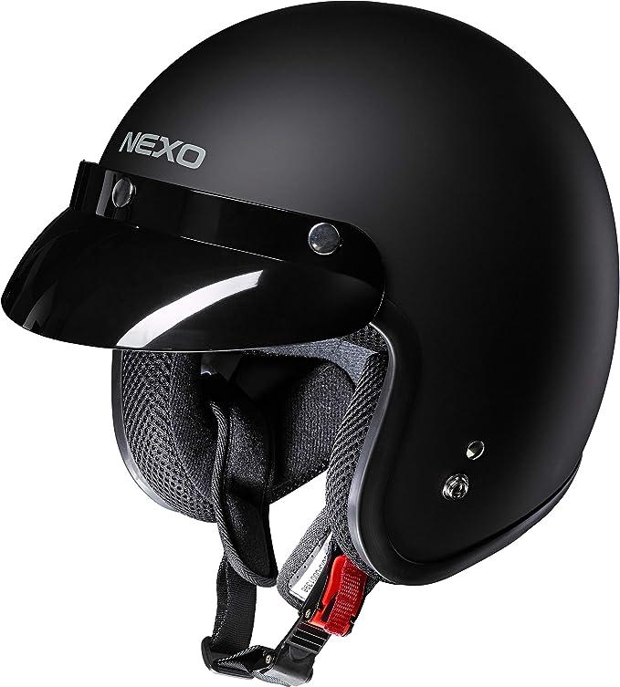 Nexo Jethelm Motorradhelm Helm Motorrad Mopedhelm Material Abs Innenausstattung Waschbar 100 Polyester Gewicht 950 G Schnellverschluss Ece 22 05 Abnehmbarer Schirm Xs Xxl 2xl Bekleidung