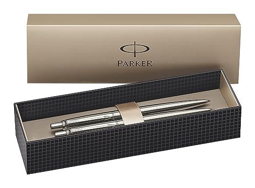 36 opinioni per Parker- Set penna a sfera e matita meccanica, in acciaio INOX con rivestimento