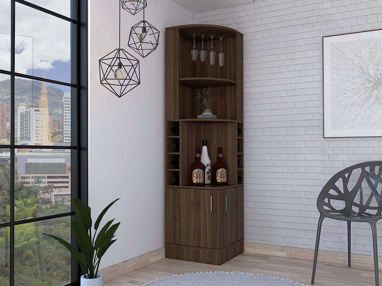 Amazon Com Tuhome Syrah Corner Bar Cabinet Furniture Decor