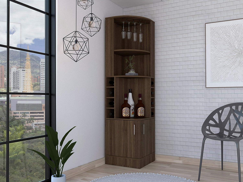 TUHOME Syrah Corner Bar Cabinet