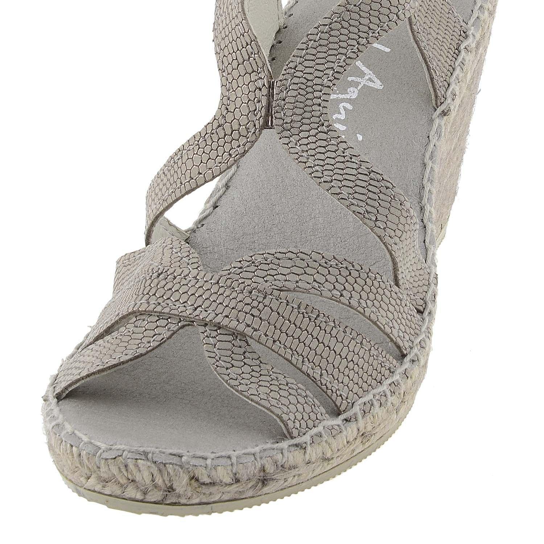 Alpargatas cuña Piel Talla: 41 Color: Bronce: Amazon.es: Zapatos y complementos