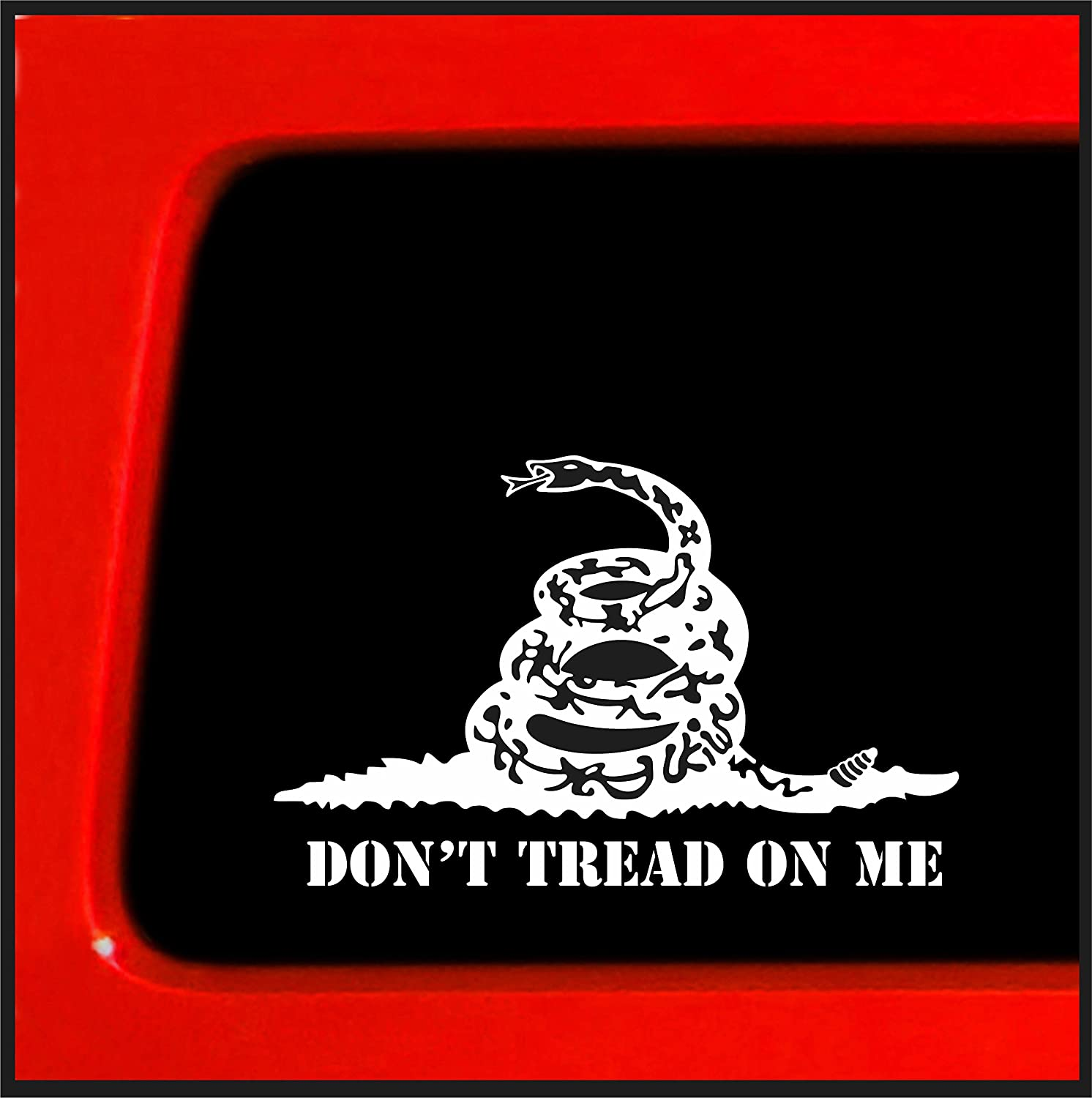 "Sticker Connection | Don't Tread on Me | Bumper Sticker Decal for Car, Truck, Window, Laptop | 3.7""x6"" (White)"
