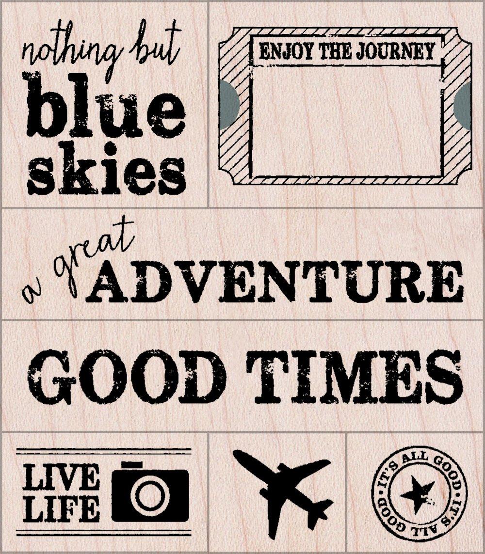 Hero Arts A Great Adventure Woodblock Stamp Set