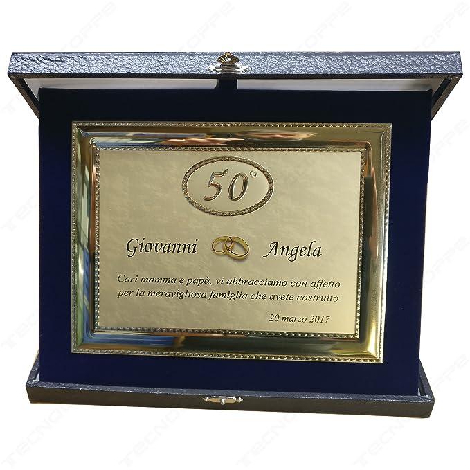 Placa decorativa de aluminio por 50º aniversario, bodas de ...