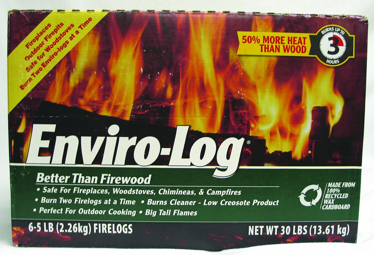 Enviro-Log Earth-Friendly Firelogs - Set of 6 BC026941
