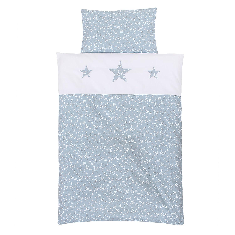 Babybay piqué lenzuola per lettino, azzurro stelle bianco,, taglia unica Babybay_410729