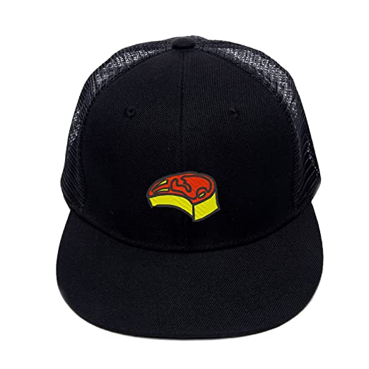 93ba2e3fcc7 Hip Hop Snapbacks Steak Beef Design Embroidered Baseball Cap Street Hat  (Black)