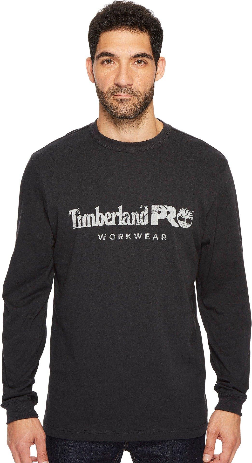 Timberland PRO Men's Cotton Core Long-Sleeve T-Shirt, Jet Black, Large
