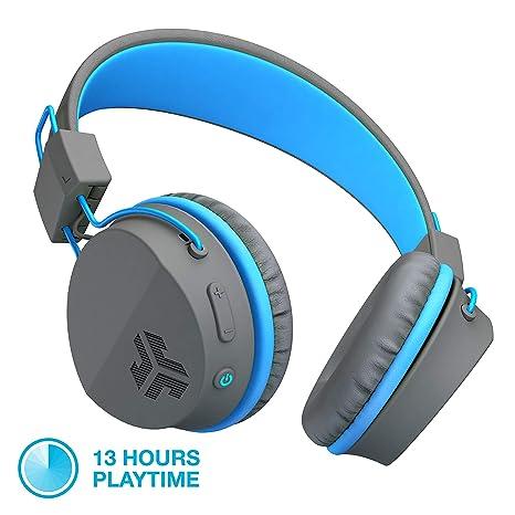JLab Audio jbuddies Studio Bluetooth inalámbrico Plegable Auriculares – Kid Friendly 13 Horas duración de la