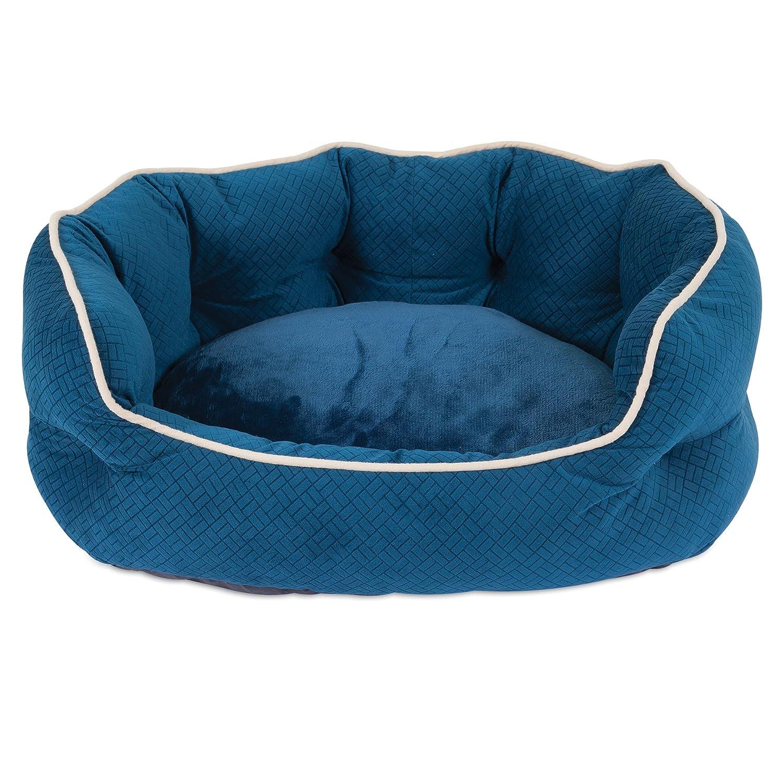 Aspen Pet 25 x 21 Luxe Lounger, bluee