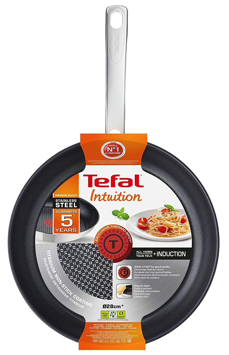 Tefal a7030744 Intuition Cacerola Acero Inoxidable 50,2 x 31,4 x 8,6 cm: Amazon.es: Hogar