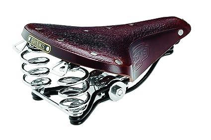 8745205100b Brooks Saddles B66 S Bicycle Saddle with Clamp (Women's, Black Steel Rails,  Antique