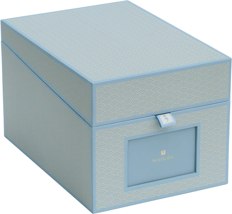 rot 352543 Box im Format 17,7 x 15,7 x 25,6 cm Semikolon CD und Fotobox red - Aufbewahrungs-Box mit 5 variablen Registerkarten