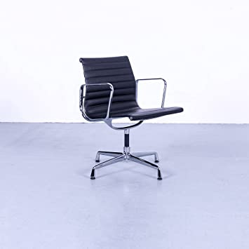 Amazon De Vitra Eames Ea 108 Armlehnen Stuhl Leder Schwarz