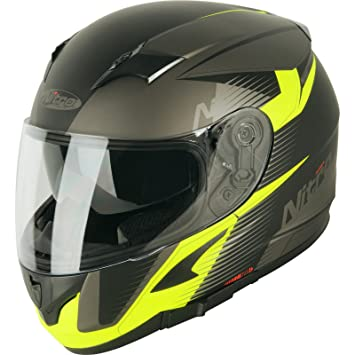 187241S05 - Nitro N2300 Rift DVS Motorcycle Helmet S Satin Black Gun Safety Yellow (05