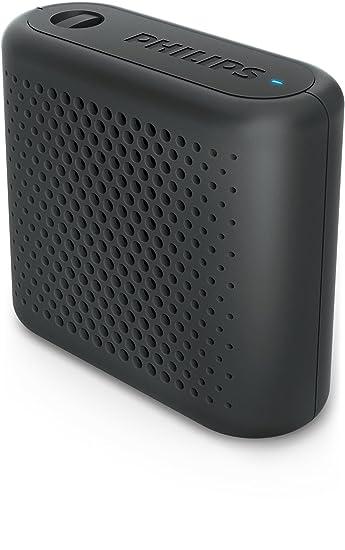 Philips Bt55b Tragbarer Bluetooth Lautsprecher Schwarz Amazon De