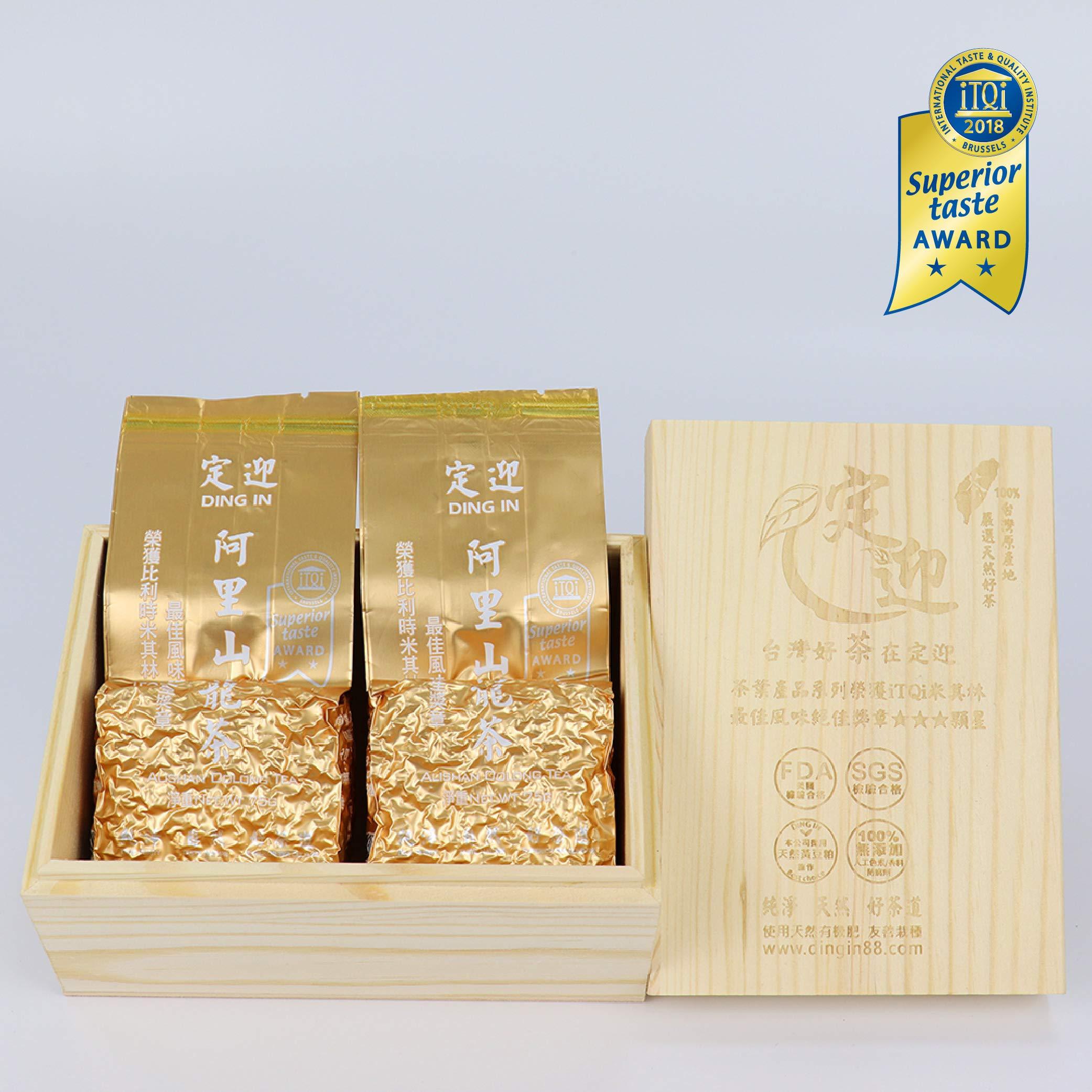 DING IN Alishan Oolong Tea Pine Box 75g2/box