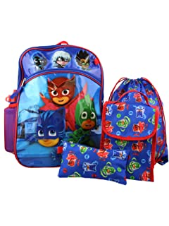 PJ Masks Boys 5 piece Backpack and Snack Bag School Set