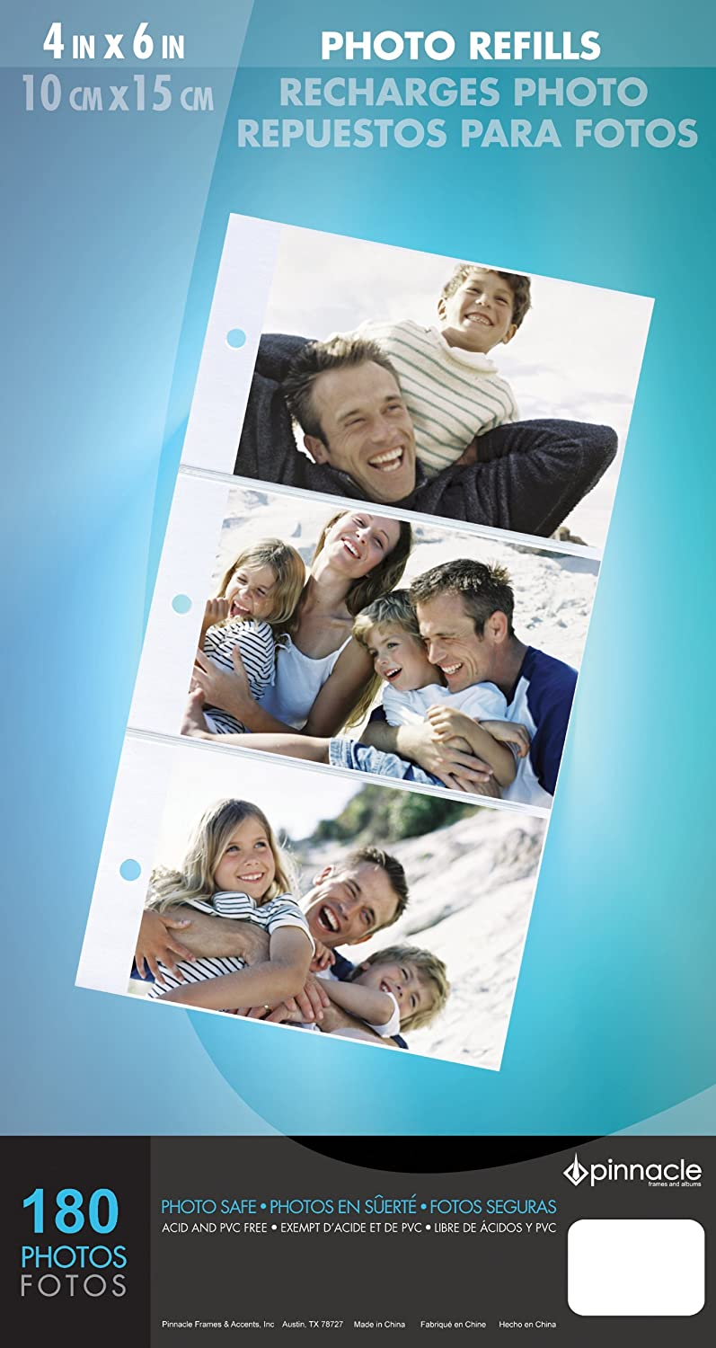 Pinnacle 3-UP Album Page Refills for 4-Inch-by-6-Inch Photos NBG Home 57554