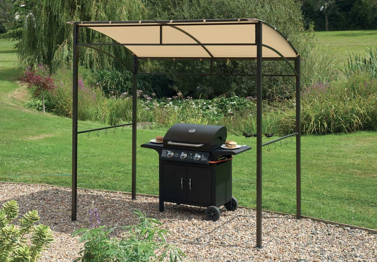 with home hardtop awning smith metal improvement gazebo regard elegant shelter to grill finlay masters bbq