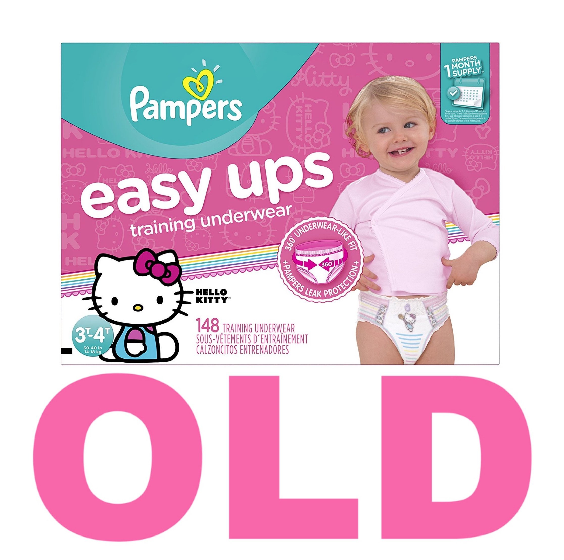 Pampers Easy Ups Training Pants Pull On Disposable Diapers for Girls Size 5 (3T-4T), 148 Count, ONE MONTH SUPPLY by Pampers (Image #2)