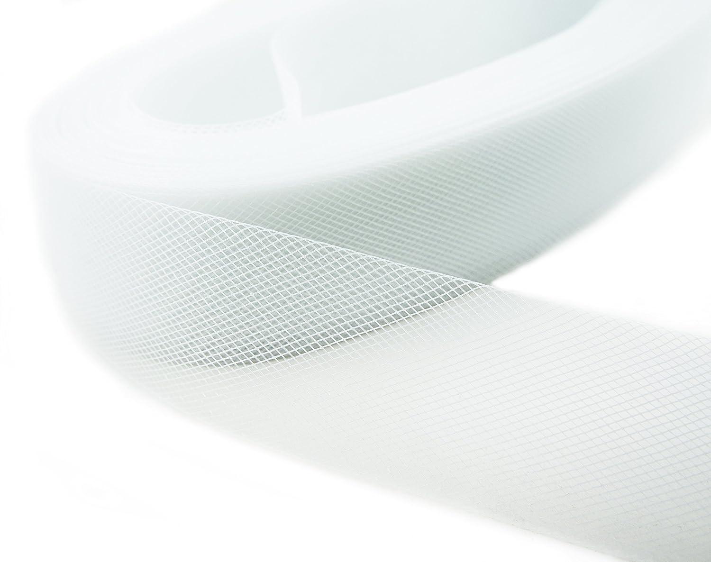 HAND® White Nylon Crin Trim Bridal Webbing Horses hair Tougher Net - 50 mm W x 5 metres L